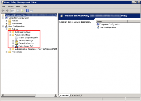 Group Policy Management Editor - setting missing