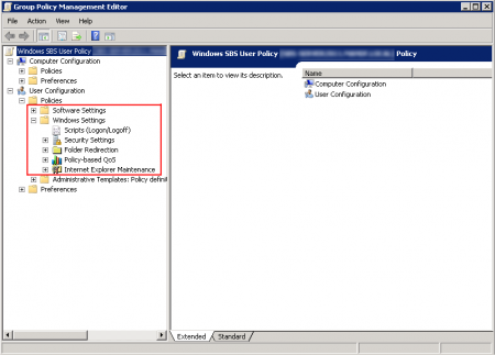 Group Policy Management Editor - setting restored