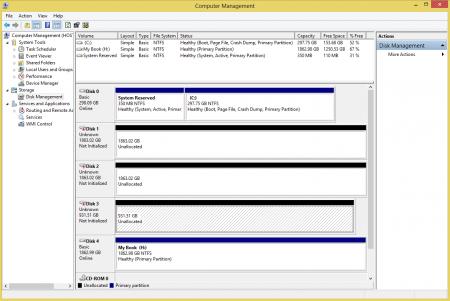 Computer Management - Disk Management