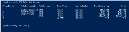 Powershell - Get-Volume