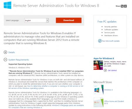 Remote Server Administration Tools Download