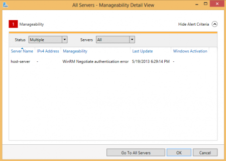 Server Manager - WinRM Negotiate Authentication error