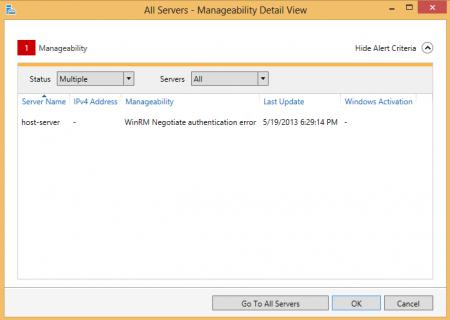 Server Manager - WinRM Negotiate Authentication error