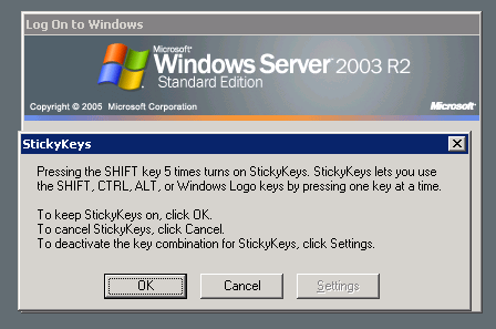 Logmein Sticky Keys