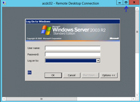 Resiz RDP Window