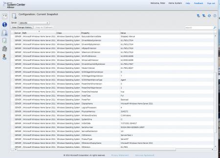 Portal - Configuration, Current snapshot